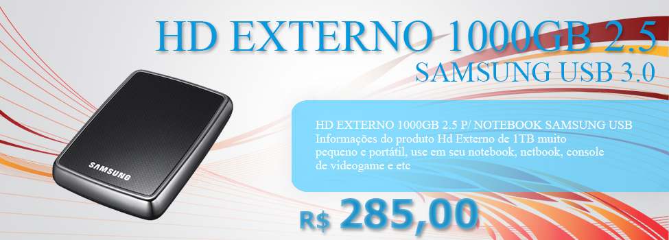HD EXTERNO 1000GB 2.5 SAMSUNG